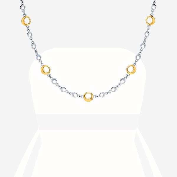 Цепочка SL, желтое и белое золото