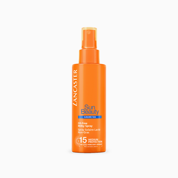 Обезжиренное молочко-спрей Sun Beauty Body SPF15, Lancaster