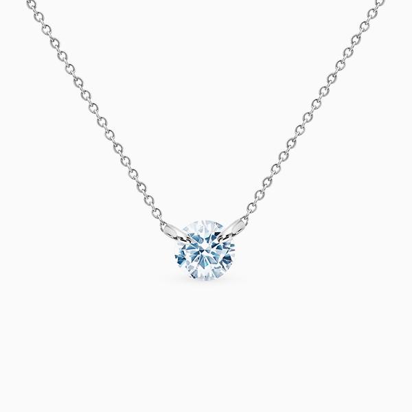Кулон SL, белое золото, бриллиант